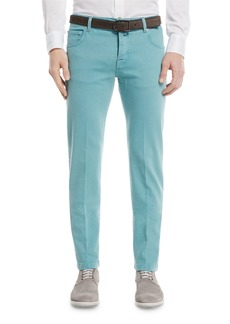 Kiton Twill Slim-Straight Jeans