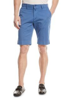 Kiton Washed Twill Slim-Straight Shorts