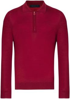 Kiton long-sleeved wool polo shirt