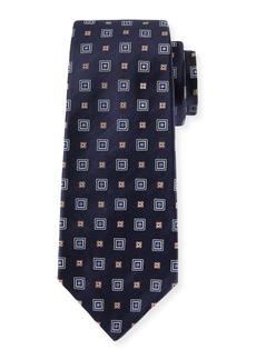 Kiton Woven Square Silk Tie