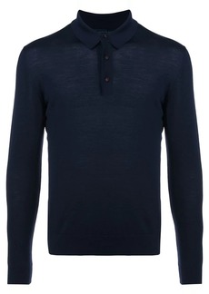 Kiton knitted longsleeved polo shirt