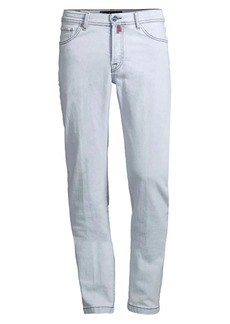 Kiton Light Wash Straight-Fit Jeans
