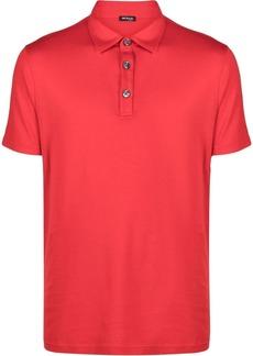 Kiton lightweight cotton-blend polo shirt