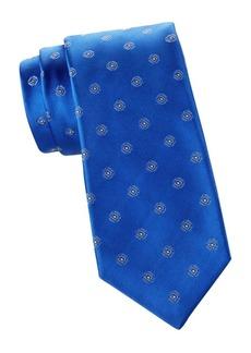 Kiton Lineare Geo-Print Silk Tie