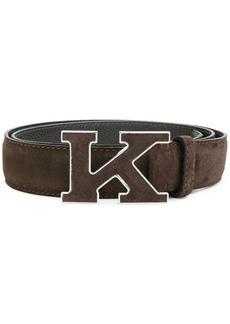 Kiton logo plaque belt