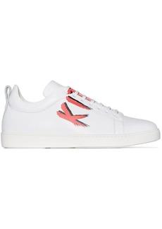 Kiton logo print lace-up sneakers