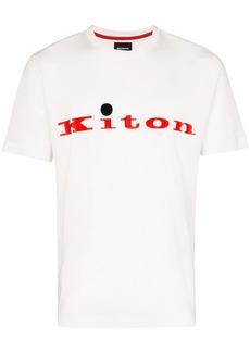 Kiton logo print T-shirt