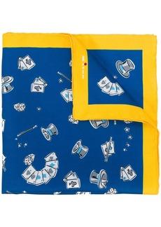 Kiton magician print handkerchief