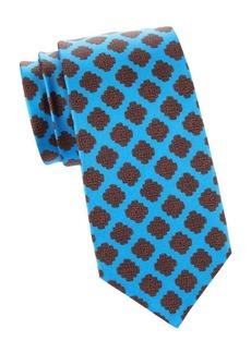 Kiton Mandala Print Silk Tie