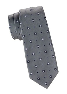 Kiton Medallion & Diamond Silk Tie