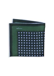 Kiton Medallion Print Silk Pocket Square