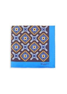 Kiton Medallion-Print Silk Pocket Square