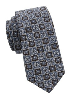 Kiton Medallion Wool & Silk-Blend Tie
