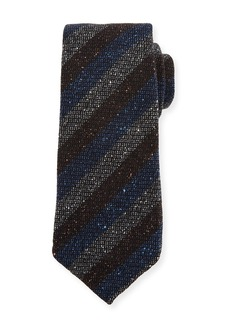 Kiton Melange Stripe Wool/Silk Tie