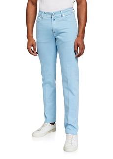 Kiton Men's 5-Pocket Straight-Leg Pants