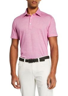 Kiton Men's Berry Knit Short-Sleeve Shirt