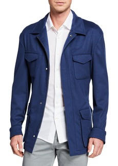 Kiton Men's Cashmere Safari Jacket