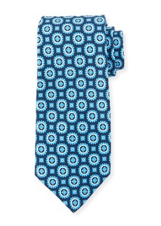 Kiton Men's Circle Medallions Tie  Navy