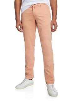 Kiton Men's Cotton/Silk-Stretch Straight-Leg Pants