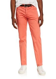 Kiton Men's Five-Pocket Twill Pants