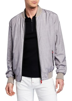 Kiton Men's Heathered Bomber Jacket