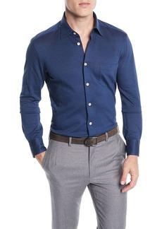 Kiton Men's Knit Sport Shirt