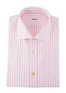 Kiton Men's Large Bengal Dress Shirt