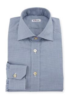 Kiton Men's Micro-Check Dress Shirt