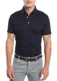 Kiton Men's Oxford Polo Shirt