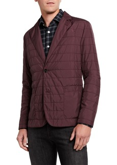 Kiton Men's Quilted Packable Two-Button Jacket