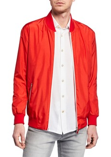 Kiton Men's Satin Bomber Jacket