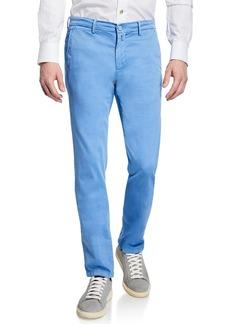 Kiton Men's Silk-Blend Straight-Leg Pants