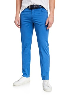 Kiton Men's Solid 5-Pocket Stretch Pants  Royal Blue