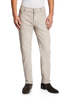 Kiton Men's Straight-Leg Corduroy 5-Pocket Pants  Stone