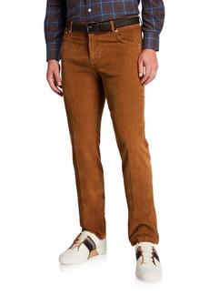Kiton Men's Straight-Leg Corduroy 5-Pocket Pants  Vicuna