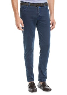 Kiton Men's Straight-Leg Pants w/ Contrast Stitching
