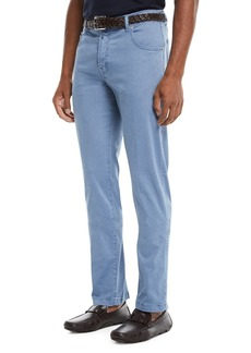 Kiton Men's Straight-Leg Twill Pants