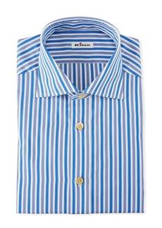 Kiton Men's Strong Stripe Dress Shirt