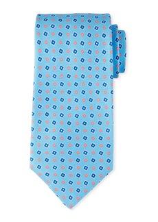 Kiton Men's Tilted Squares Tie