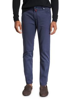 Kiton Men's Washed Wool Straight-Leg Pants