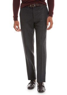 Kiton Men's Wool-Cashmere Flat-Front Trousers