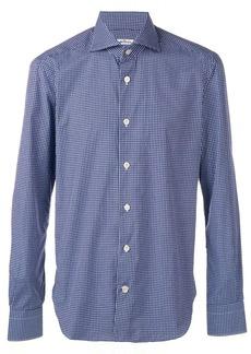 Kiton micro-check shirt