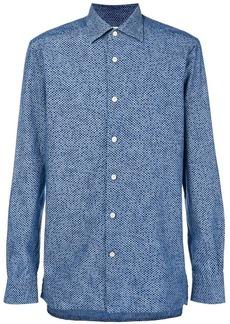 Kiton micro dot shirt