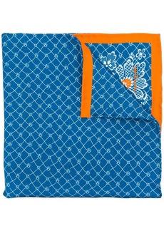 Kiton micro print scarf