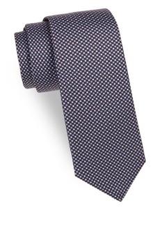 Kiton Mini Dot Silk Tie