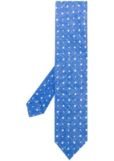 Kiton mini square print tie