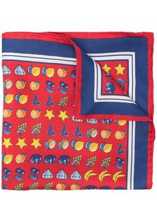 Kiton mix-print silk handkerchief