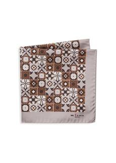 Kiton Mixed Print Silk Pocket Square