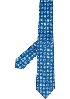 Kiton motif-print neck tie