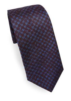 Kiton Muted Herringbone Silk Tie